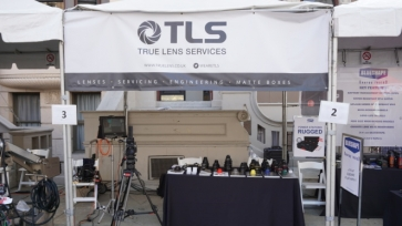 The True Lens Services booth at Cine Gear