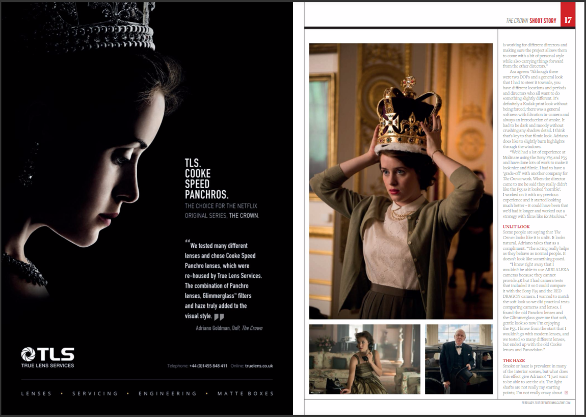 Magazine excerpt of the Crown from Definition Magazine