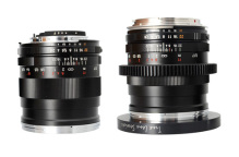 Two lenses side by side