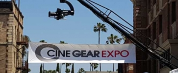 Cine Gear Banner on Paramount Pictures Lot