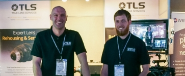 True Lens Services staff at their stand at BSC