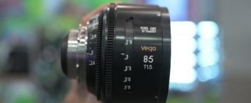 Vega 85mm lens in hand