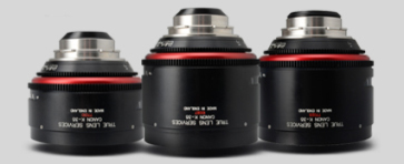 Three Canon K35 lenses side by side