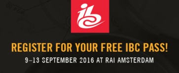 IBC Expo information on a banner