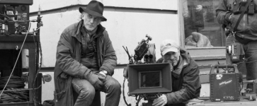 Ed Lachman on set with a camera